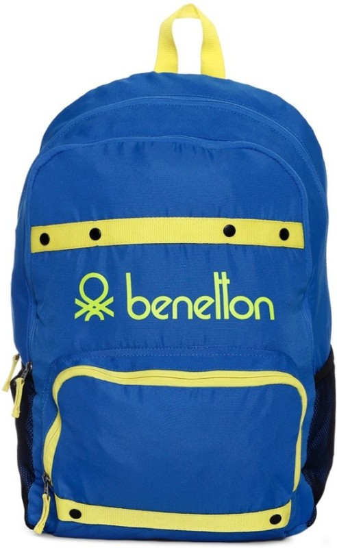 United Colors of Benetton Neon Tape 25 L Backpack(Blue)