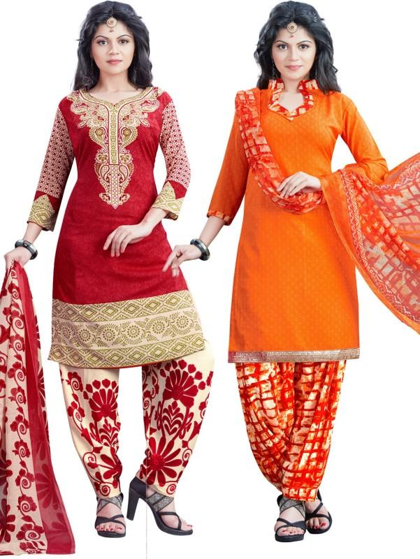Salwar Studio Synthetic Printed Salwar Suit Dupatta Material(Un-stitched)