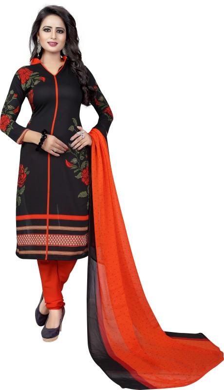 RHYTHMFABRICS Crepe Printed Salwar Suit Dupatta Material(Un-stitched)