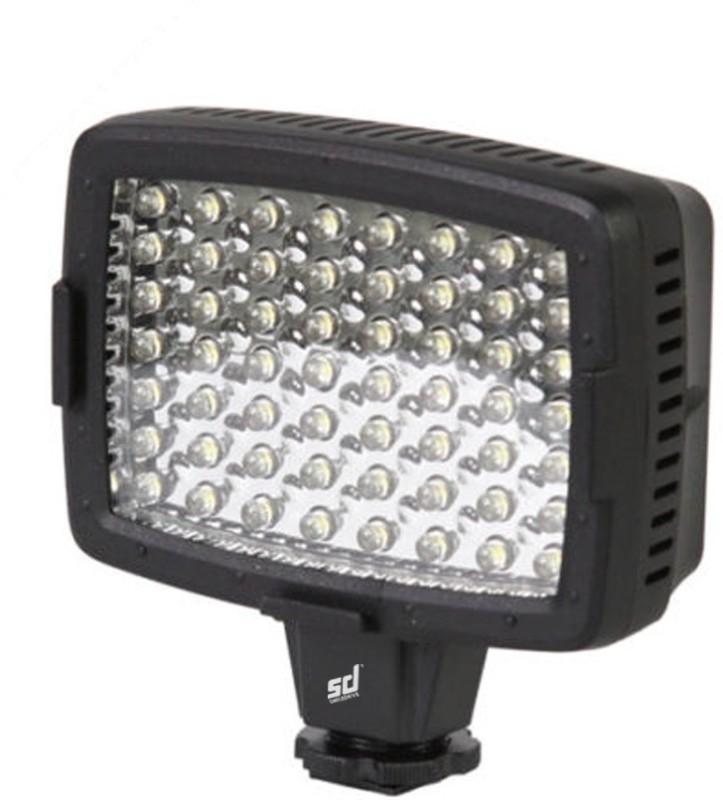 Smiledrive Professional LED Video Light Lamp for Canon Nikon DSLR Camera DV Camcorder Lighting-56 LEDs with Free Filters Flash(Black)