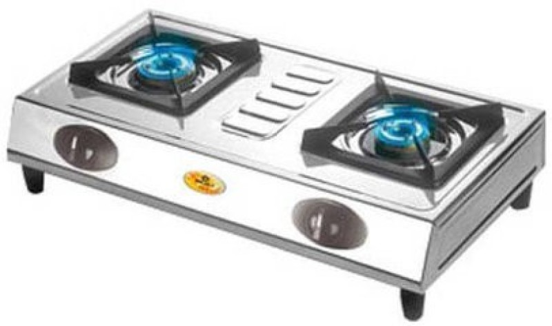 Bajaj Stainless Steel Manual Gas Stove(2 Burners)