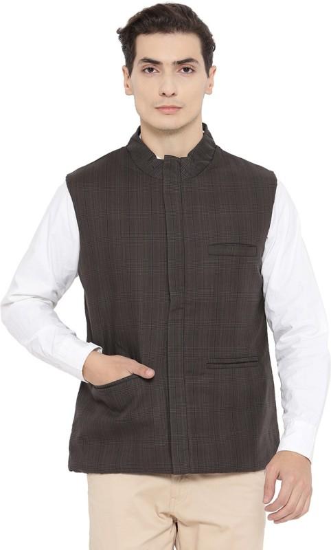 Neva Sleeveless Self Design Men Jacket