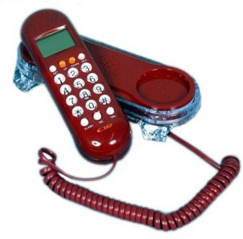 Swarish Jumbo LCD With BackLight Caller Id KX-T666 Telephone Corded Landline Phone (Black) Corded & Cordless Landline Phone(Red)