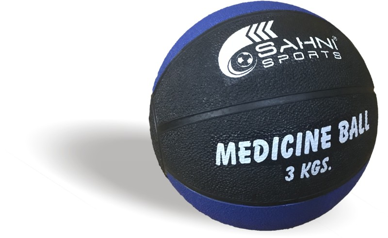 Sahni Sports Pro Medicine Ball Medicine Ball(Weight:  3 Kg, Black, Blue)