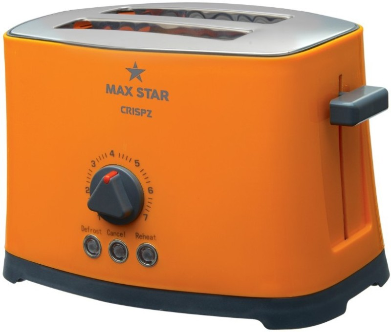 Maxstar PT02 Crispz 750 W Pop Up Toaster(Orange)