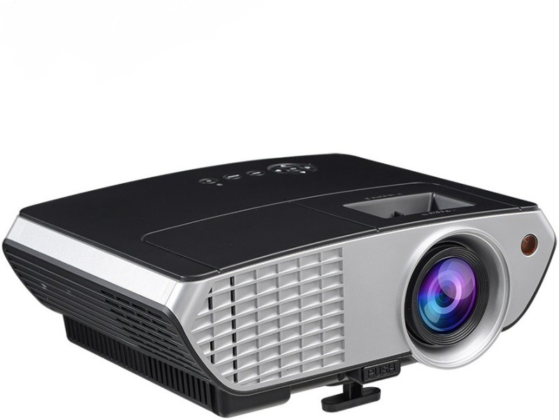 toshani 2000 lm LED Corded Portable Projector(Black)