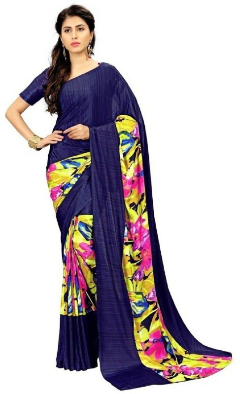 SNH Export Printed Bollywood Georgette Saree(Multicolor)