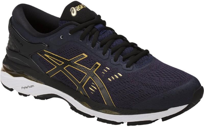 Asics GEL - KAYANO 24 - PEACOAT/BLACK/RICH GOLD Running Shoes For Men(Black)