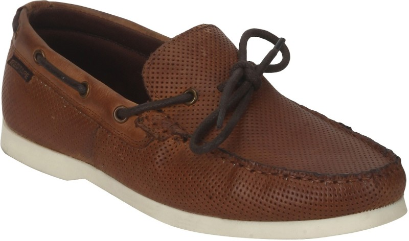 Red Tape Men Leather Boat Shoes For Men(Tan)