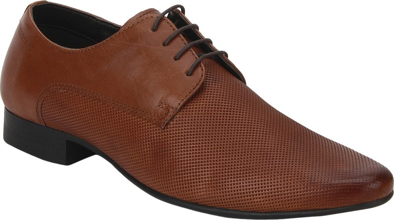 Red Tape Men Leather Derby For Men(Tan)