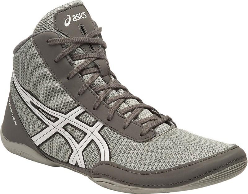 Asics METFLEX 5 - LIGHT GREY/WHITE/BLACK Wrestling Shoes For Men(Grey)