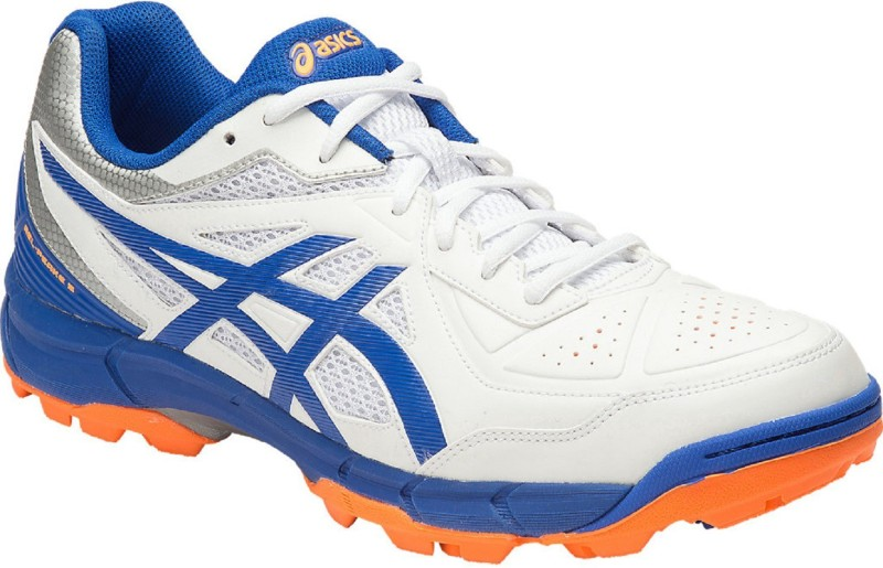 Asics GEL - PEAKE 5 - WHITE/INSIGNIA BLUE/HAWAIIAN SURF Cricket Shoes For Men(White)