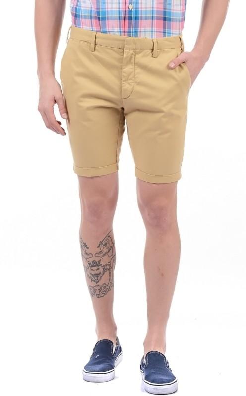 Gant Solid Mens Beige Basic Shorts