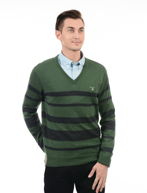 Gant V-neck Striped Men Pullover