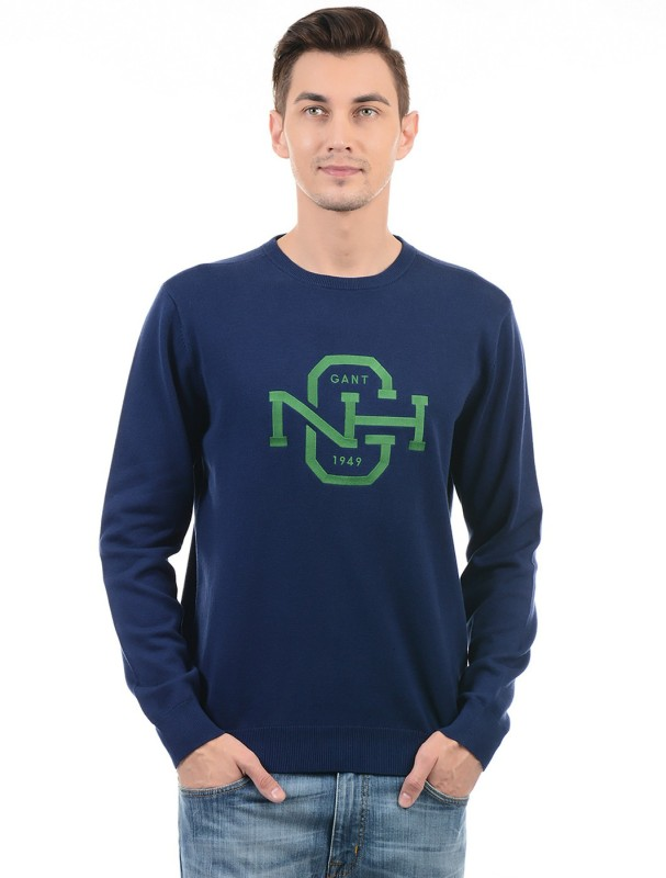 Gant Full Sleeve Solid Men Sweatshirt