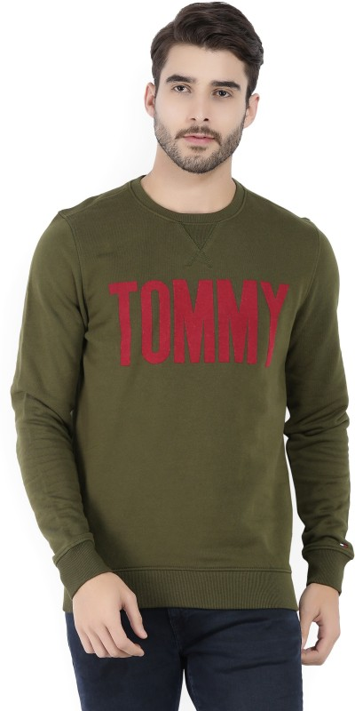 Tommy Hilfiger Full Sleeve Embellished Mens Sweatshirt