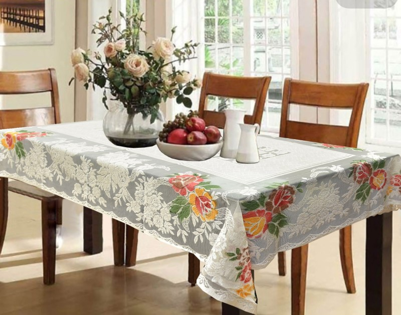 Kuber Industries Printed 6 Seater Table Cover(Multicolor, Cotton)