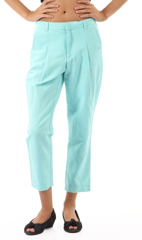 Pepe Jeans Regular Fit Womens Blue Trousers