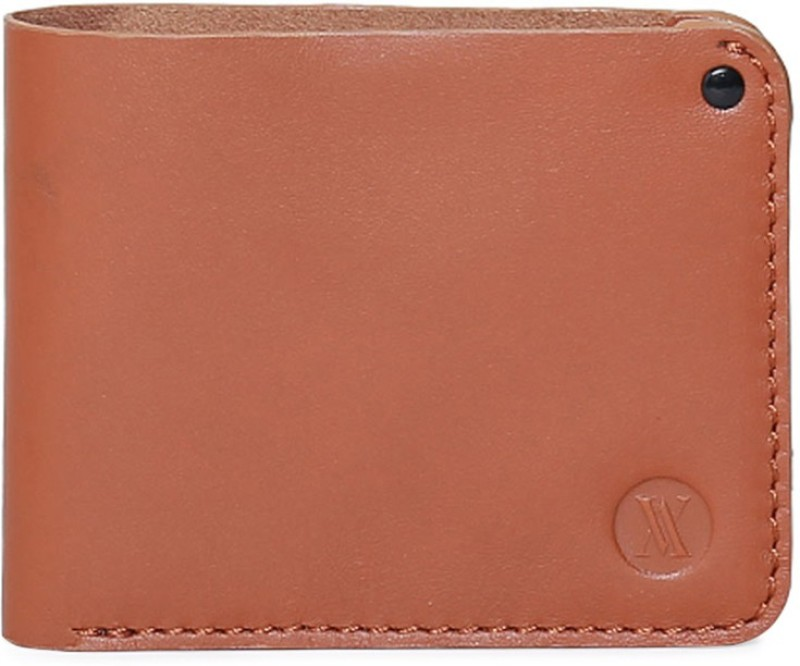 Viari Men Tan Genuine Leather Wallet(3 Card Slots)