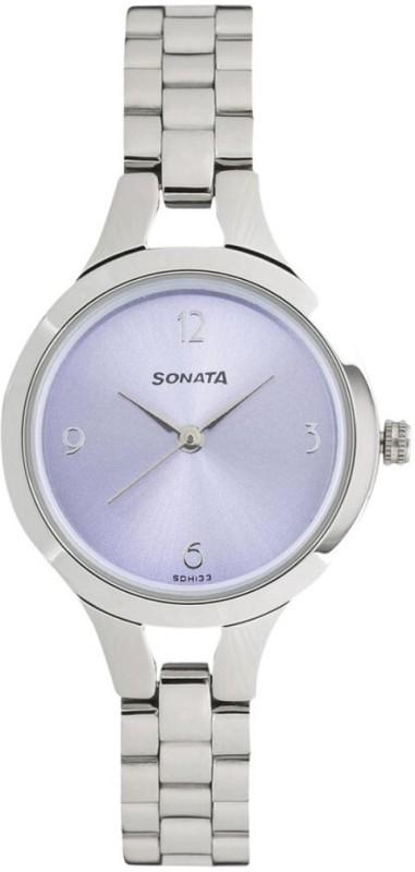 Sonata 8151SM02 Steel Daisies Women's Watch image