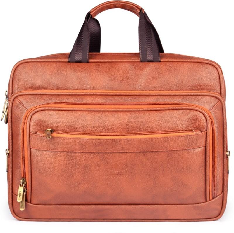 The Clownfish Executive Laptop Briefcase Medium Briefcase - For Men & Women(Cinnamon)