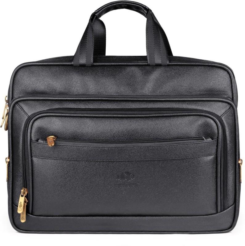 The Clownfish Executive Laptop Briefcase Medium Briefcase - For Men & Women(Black)