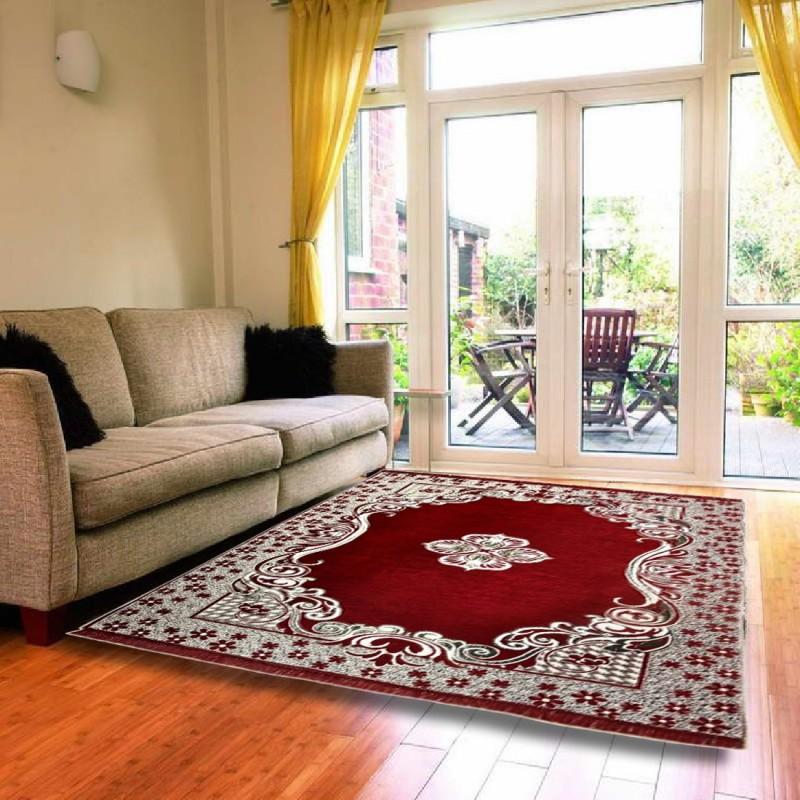 Saanvi7 Star Multicolor Chenille Carpet(155 cm X 215 cm)