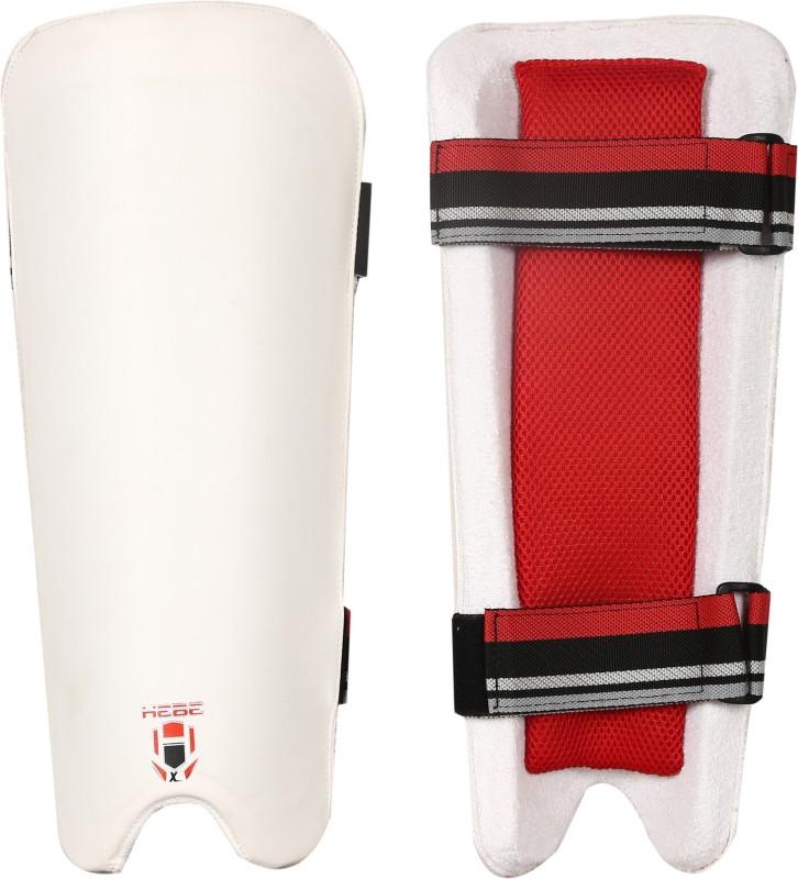 Hebe Light weight Cricket Fielding Leg Guard(17.5, White)