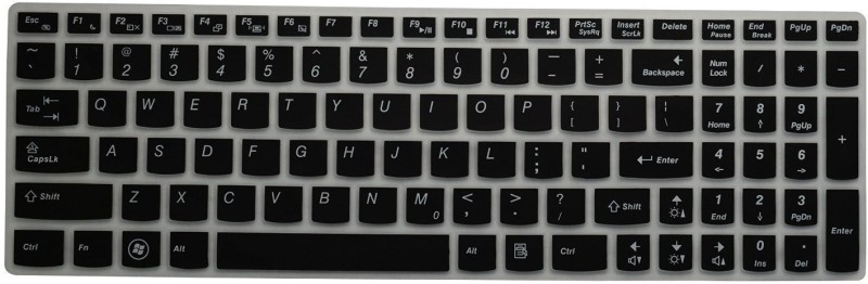 Saco Chiclet For Lenovo Z50-70 (59-428434) Laptop Keyboard Skin(Black)