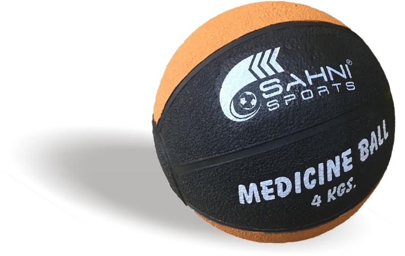 Sahni Sports Pro Medicine Ball Medicine Ball(Weight:  4 Kg, Orange, Black)