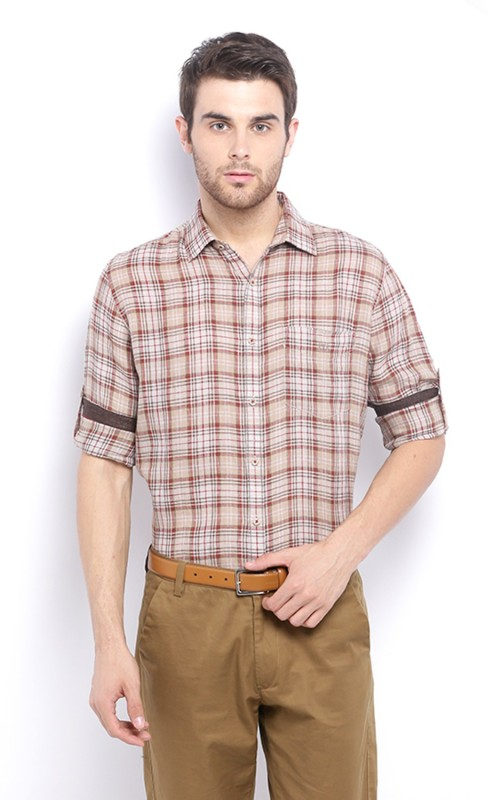 Van Heusen Men Checkered Casual Multicolor Shirt