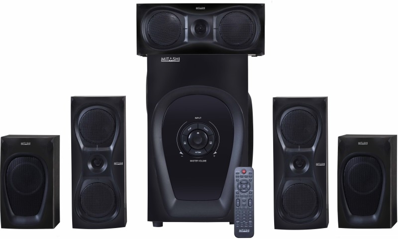 Mitashi 9500 Watts PMPO 5.1 Ch. HT 6125 BT 5.1 Home Theatre system with Bluetooth Home Audio Speaker(Black, 5.1 Channel)