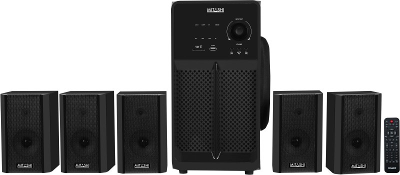 Mitashi 12500 Watts PMPO 5.1 Ch. HT 8150 BT 5.1 Home Theatre system With Bluetooth Home Audio Speaker(Black, 5.1 Channel)