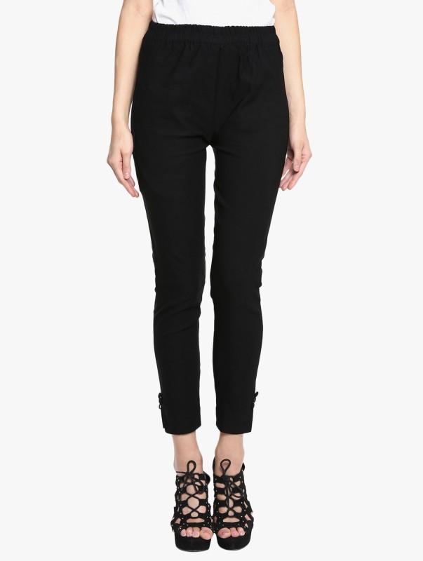 Broadstar Regular Fit Women Black Trousers