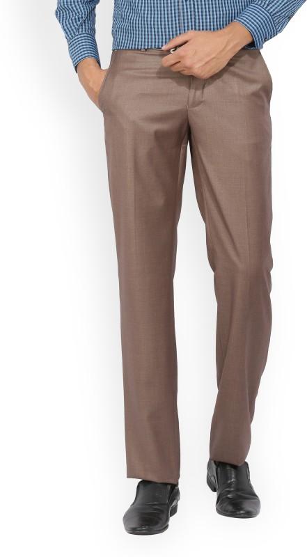 Van Heusen Slim Fit Men Brown Trousers