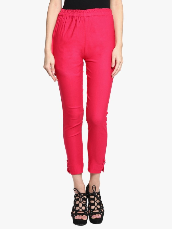 Broadstar Regular Fit Women Pink Trousers