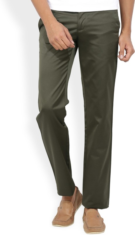 Van Heusen Slim Fit Mens Green Trousers