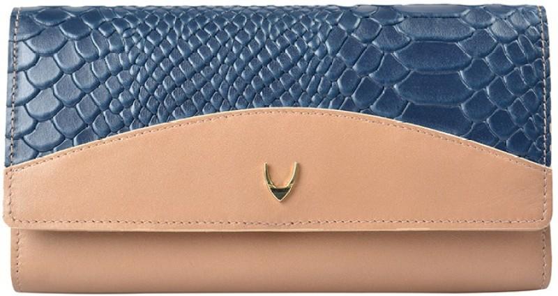 Hidesign Women Blue Genuine Leather Wallet(11 Card Slots)