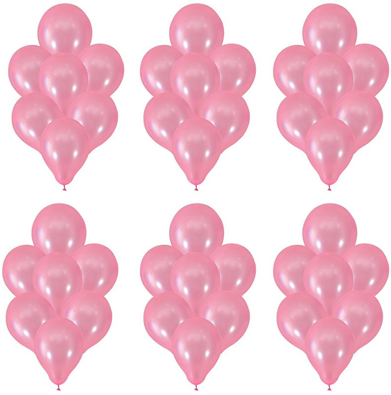 Instabuyz Solid Balloons for Party Festival Diwali Christmas Decorations New Years Celebrations Birthday Party Pink Balloon (50pcs set) Balloon(Pink, Pack of 50)