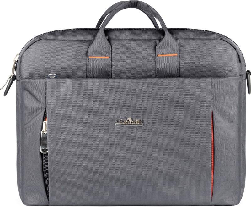 The Clownfish Urban Series Medium Briefcase - For Men & Women(Grey)