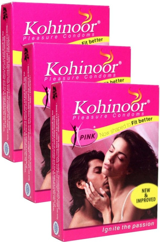 Kohinoor KOHINOOOR PLEASURE CONDOM [SET 3PACK] TOTAL CONDOM 30 Condom(Set of 3, 30S)