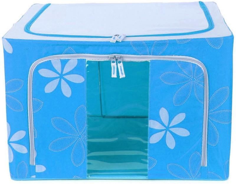 ShopyBucket Cloth Box Imported Jumbo Saree/Lehenga/Woolens Storage Box (66 Liters) Foldable Collapsible...