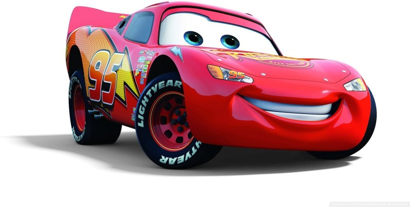 BeLucky cars--disney-movie-mcqueen Wall Poster Paper Print(12 inch X 18 inch, Rolled)