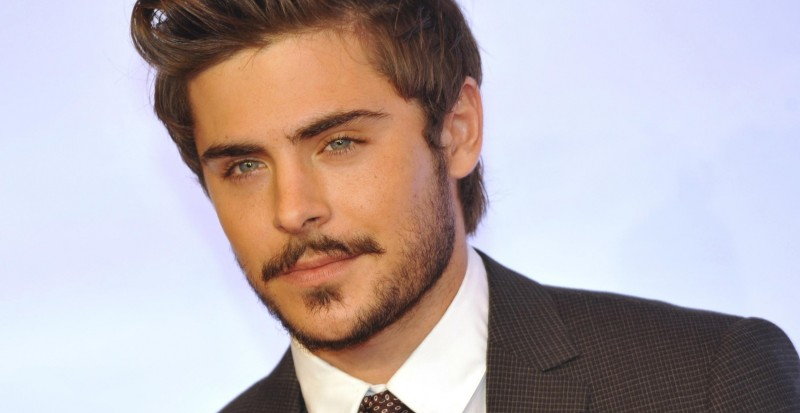 ASHD Wall Poster zac_efron_actor_mustache_beard_brunette_suit_celebrity_13*19 inches Paper Print(19 inch X 13 inch, Rolled)