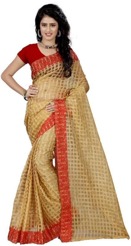 Trendz Printed Fashion Art Silk Saree(Red)