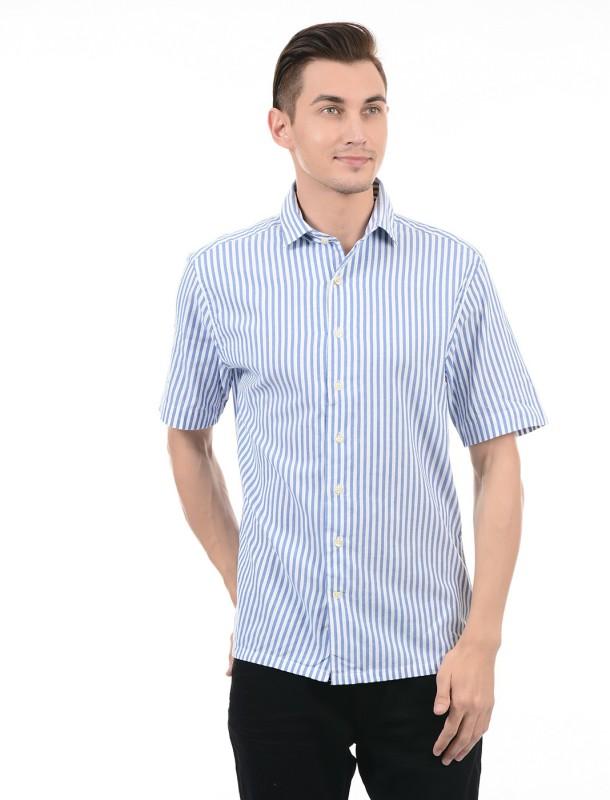 Gant Men Striped Casual Blue Shirt