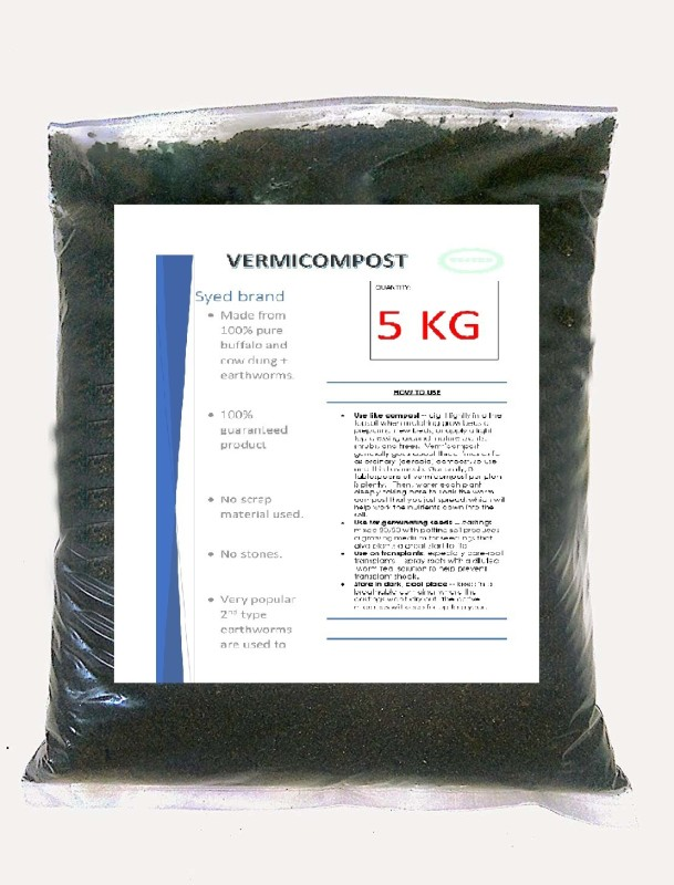 advancedestore vermicompost 5 kg vermicompost 5 kg organic fertilizer Soil Manure(5 kg Powder)