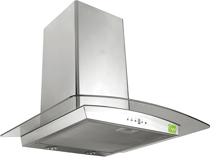 J3 Technology Granada 60cm Inox Wall and Ceiling Mounted Chimney(White 1000 CMH)