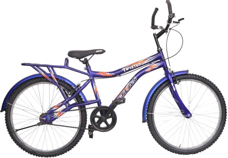 Atlas Twister Deluxe Bike For Teens Matt Blue&Orange 24 T Mountain Cycle(Single Speed, Multicolor)