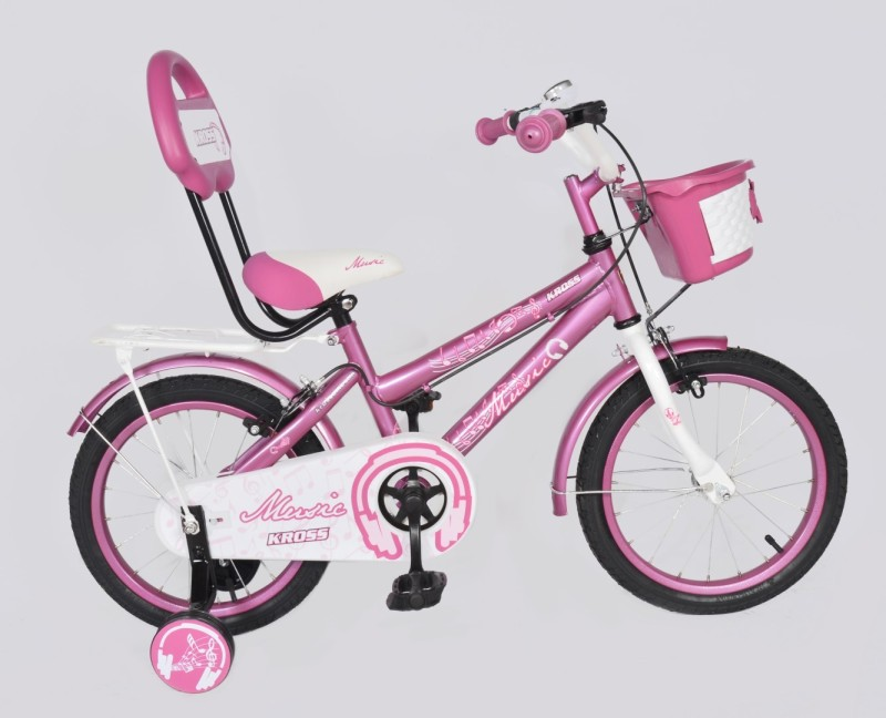 Kross Music 16inches 2018 Bike For Kids Age Of 5-7yrs Pink 16 T Single Speed Recreation Cycle(Multicolor)